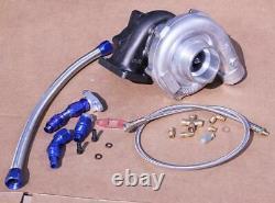 T3/t4 T04e Turb0chargeur Turbo 450+ CIVIC 06-10 Fa1 Fd1 K20 R18 Fa2+ Oil Line Kit