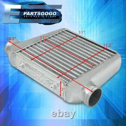 Universal 18.5 X 11.5 X 3 Tube Et Fin En Aluminium Poli Fmic Turbo Intercooler