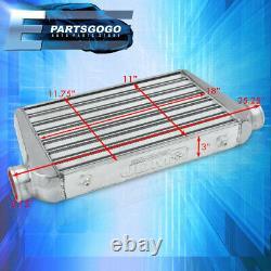 Universal 25x11.75x3 Tube Et Montage Avant Fin Fmic Intercooler Turbocharge Jdm