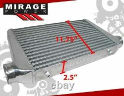 Universal 25x11.75x3 Tube & Fin High Flow Front Mount Fmic Intercooler Turbo