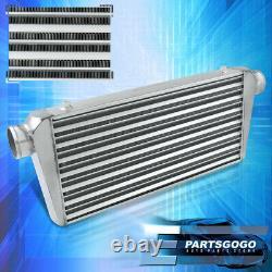 Universal 30.75x11.75x3 Tube Et Fin Grand Turbo Intercooler Aluminium Argent Jdm