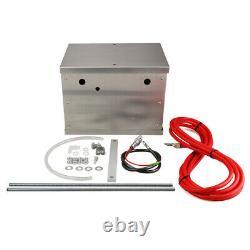 Universal Billet Poli Aluminium Complete Batterie Box Relocation Kit Race Pc