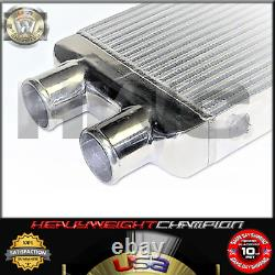 Universal Twin Turbo Intercooler 2-in 1-out 32 X 12 X 3 Montage Avant Aluminium