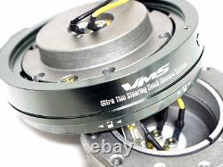 Universal Vms Racing Thin Short Slim Volant Rapide Release Gun Metal Hub