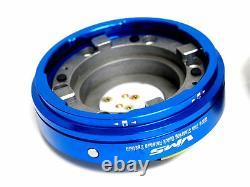 Vms Racing Thin Short Slim Quick Release Blue Pour Nrg Steering Wheel Hub Kit