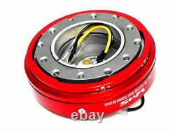 Vms Racing Thin Short Slim Quick Release Red For Nrg Steering Wheel Hub
