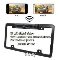 Wifi Wireless Car Plaque D'immatriculation Arrière Vue Arrière Caméra De Secours Inversée Pour Android Ios